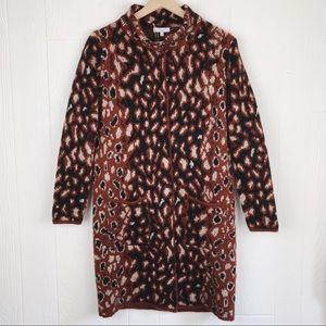 Gio & Gio NWT Wool Blend Leopard Print Cardigan